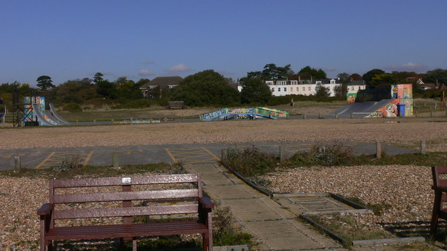 Skate park near West Town on Hayling Island