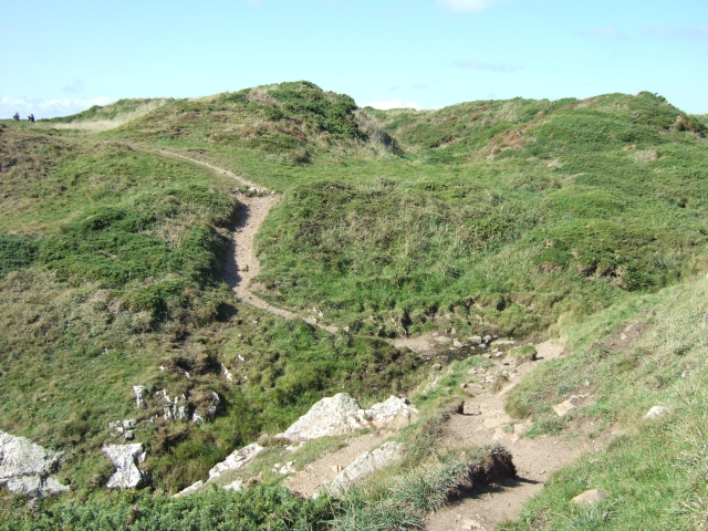 Coast path and ditch of headland fort