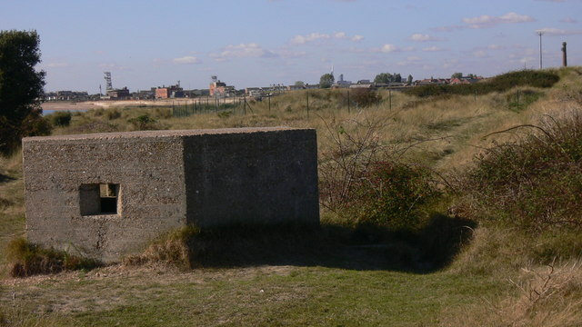 Pillbox by perimeter of Hayling Golf Course