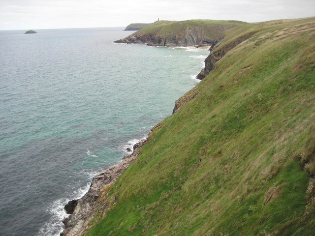 The Cornish coast west of Stepper Point