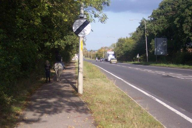 Footpath alongside the A2290 Thanet Way