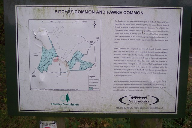 Bitchet Common and Fawke Common Information Board