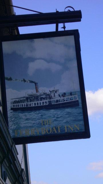 Pub sign at Ferryboat Inn