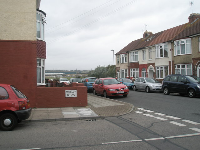 Looking from Wesley Grove into Devon Road