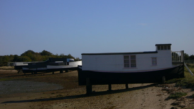 Houseboats in The Kench on Hayling Island