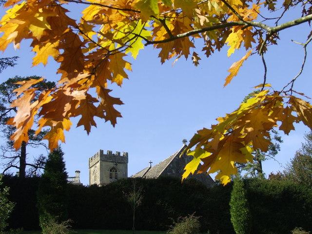 Cowley Church on a lovely Autumn Day