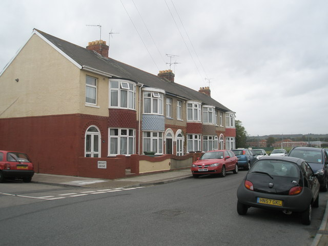 Houses at the top end of Devon Road