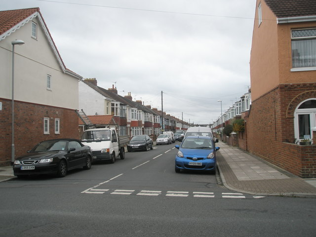 Looking from Devon Road along Lovett Road