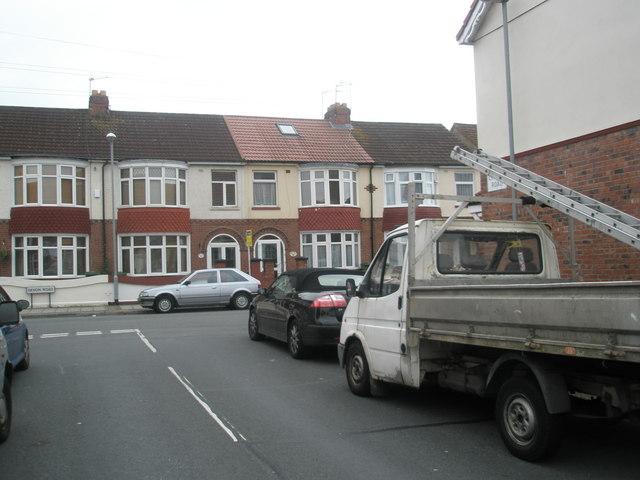 Looking from Lovett Road into Devon Road