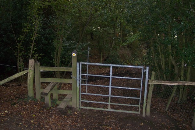 Stile and gate on the Greensand Way
