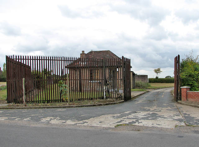 Entrance to the former radar station