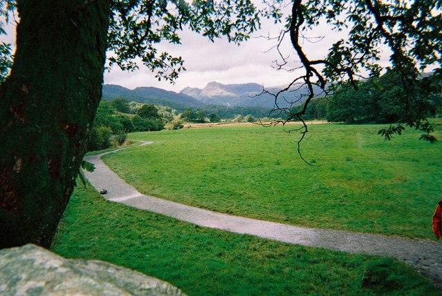 Cumbria Way between Elterwater and Skelwith Bridge