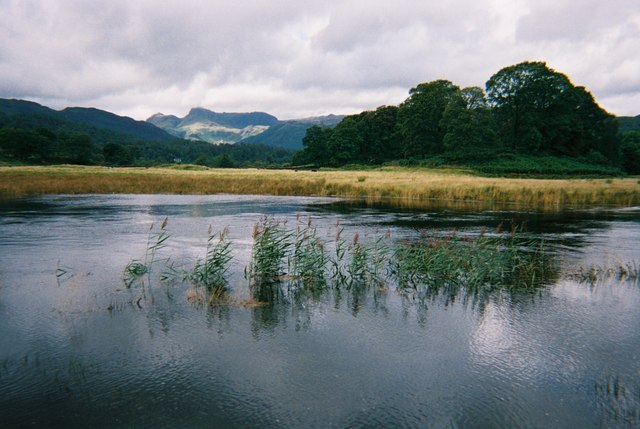 River Brathay and the Langdale Pikes