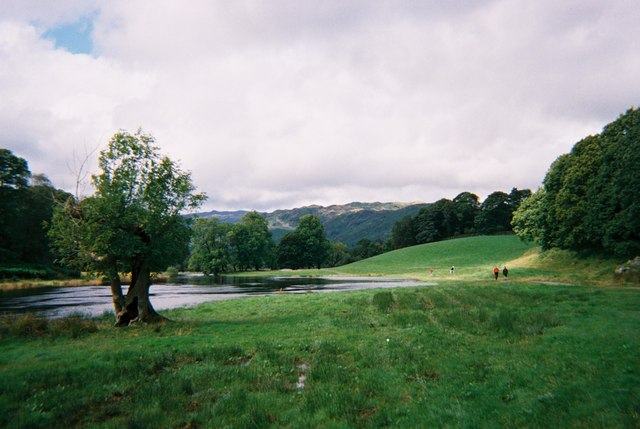 Walkers on the Cumbria Way near Elterwater
