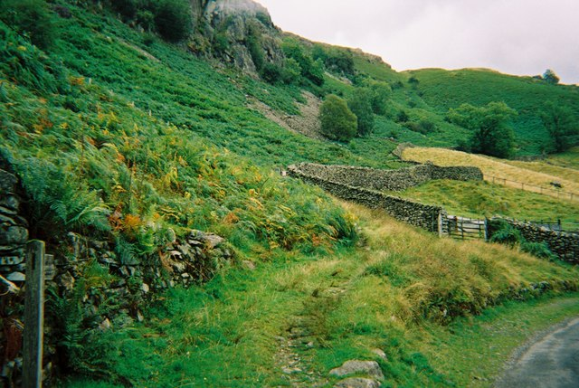 Chapel Stile - footpath up a fellside