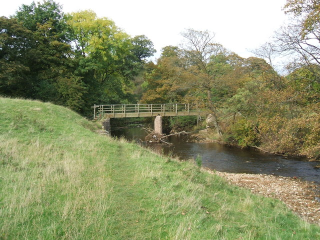 Footbridge over River Eden