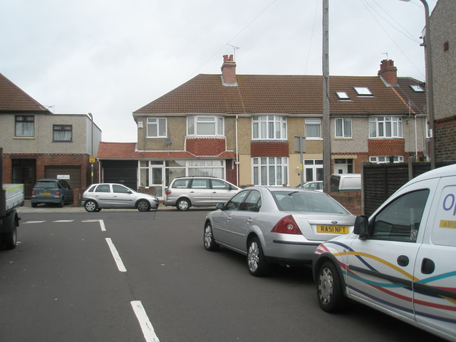 Looking from Dartmouth Road into Monckton Road