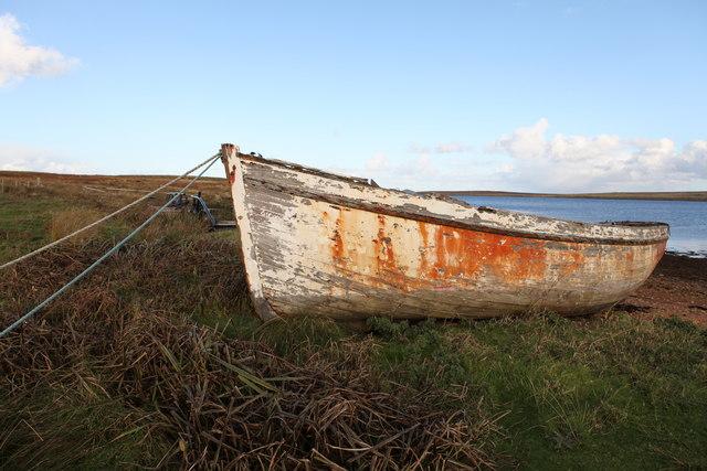 Abandoned boat at Rysa Bay