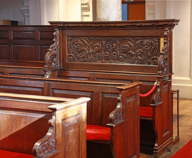 St George's Church, Hanover Square, London W1 - Pew