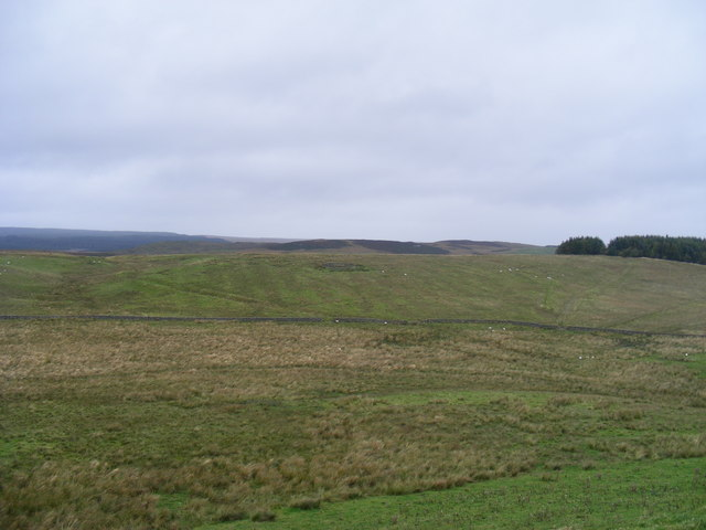 View north from Housesteads Roman Fort