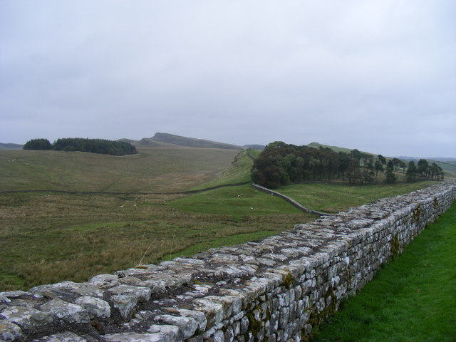 Hadrian's Wall looking east at Housesteads