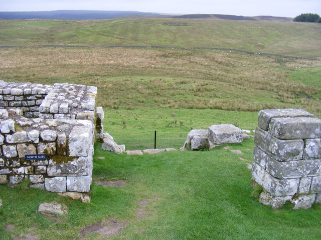 The North Gate at Housestead's Roman Fort