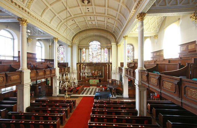 St George's Church, Hanover Square, London W1 -  East end from gallery
