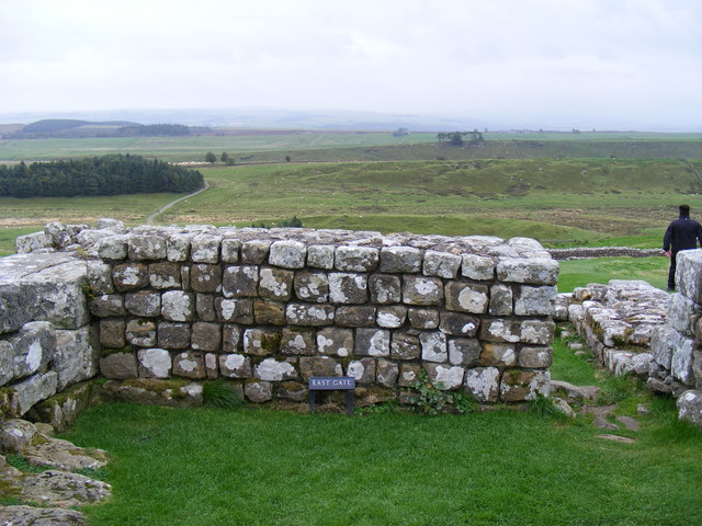 The East Gate at Housestead's Roman Fort