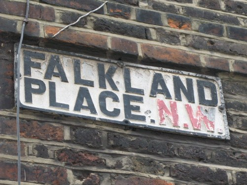 Old sign for Falkland Place, NW5
