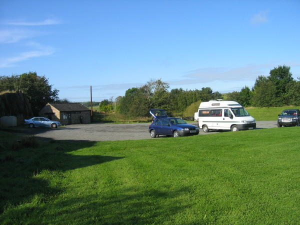 Northumberland National Park Car Park at Cawfields