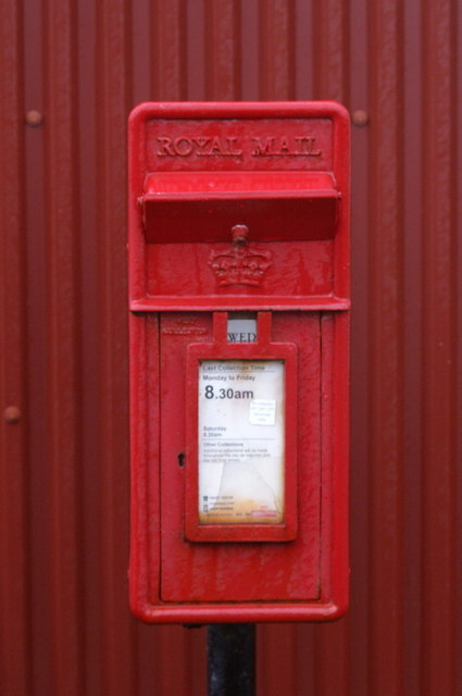 Post box outside the former Haroldswick Post Office