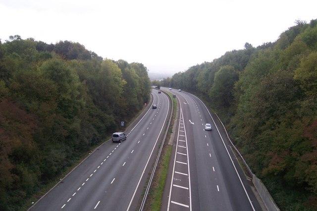 A21 Sevenoaks By-Pass heading towards Tonbridge