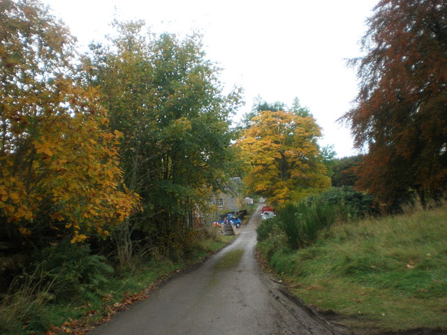 End of road past Moy Hall