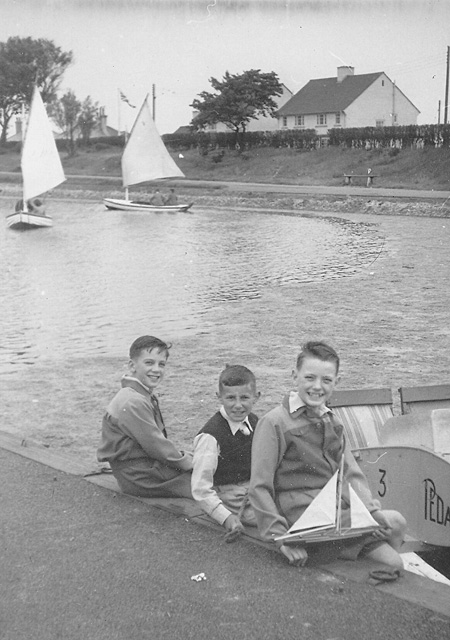 Mooragh Park Lake, Ramsey in the early fifties