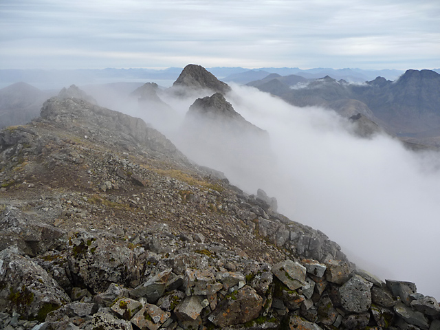 East from the summit of Bruach na Frithe