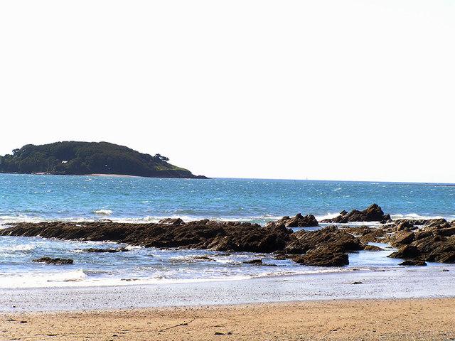 Looe Island from Millendreath