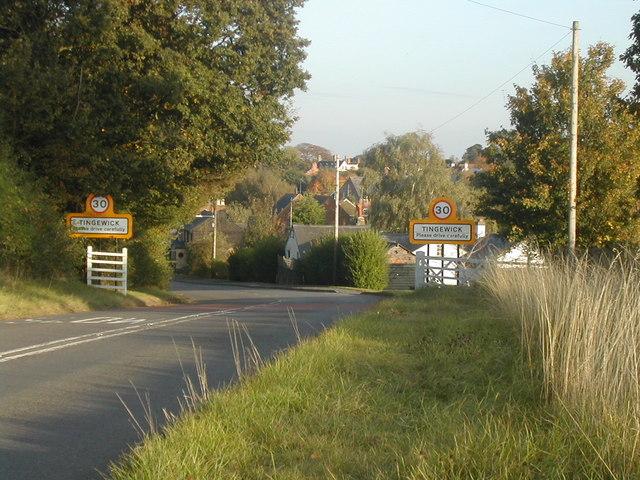 Entrance to Tingewick
