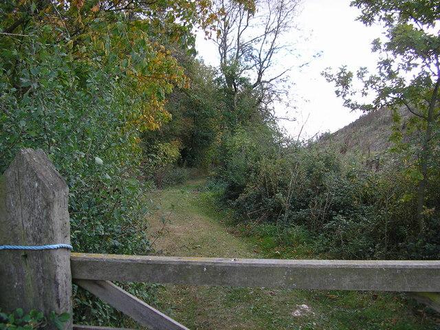 Track Next to Hooby Lane Quarry, Stretton