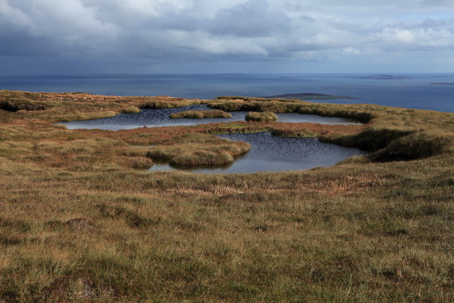 Peaty Pools on Knap of Trowieglen