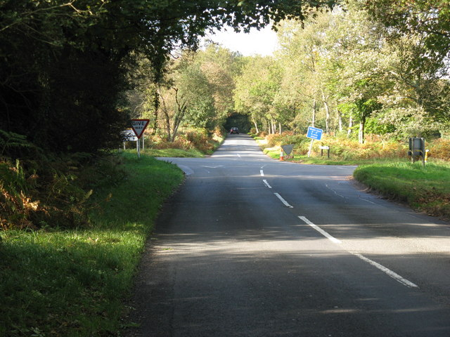 Goat Cross roads west of Wych Cross