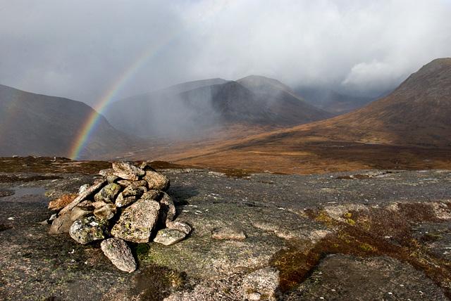 Cairn on the summit of Creagan nan Gabhar