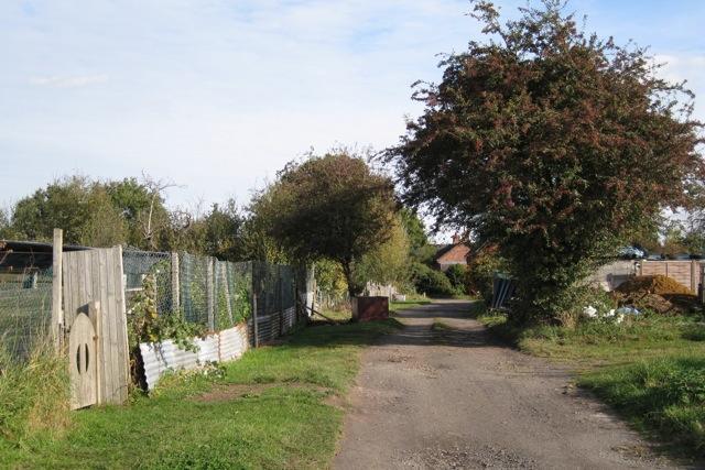 North track, New Milverton allotments, Leamington Spa
