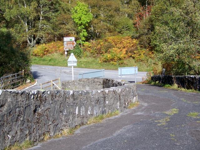 Road junction, Tummel Bridge