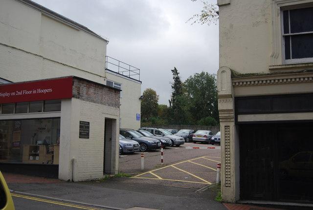 Hoopers, customer car park