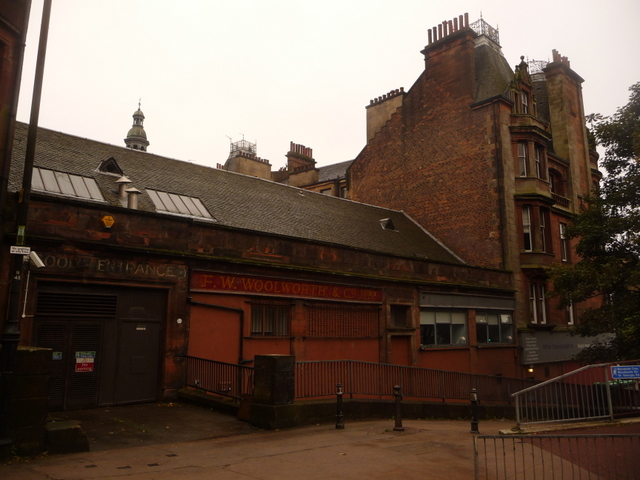 Glasgow: rear of old Woolworth's store in Renfrew Street