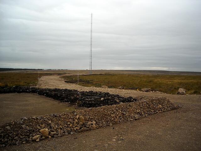 Track in Whitelee Windfarm