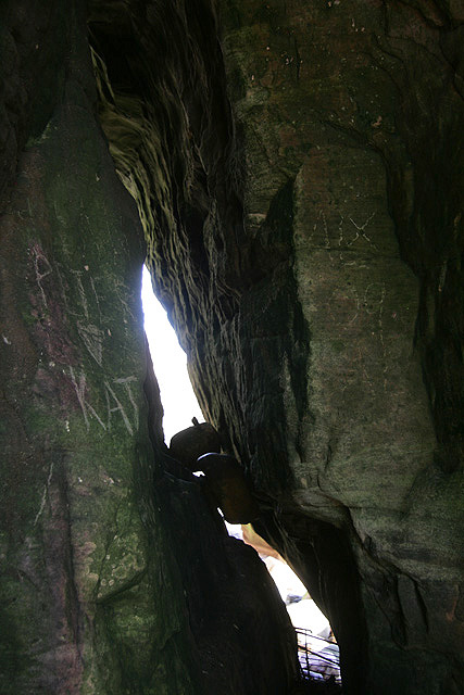 Inside a small cave at Fisherman's Head