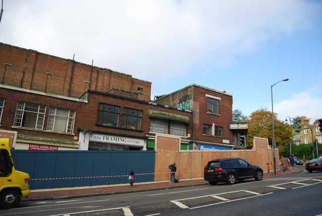 Preparation for redevelopment, the old Odeon Cinema