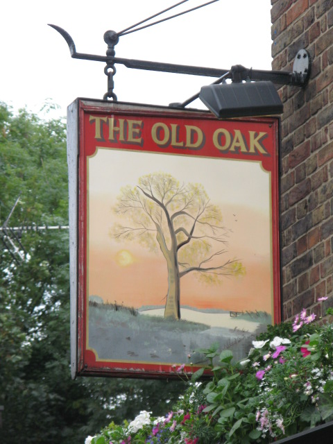 Sign for The Old Oak, Gordon House Road / Oak Village, NW5