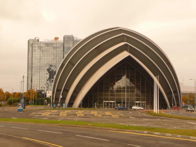 Glasgow: the SECC head-on
